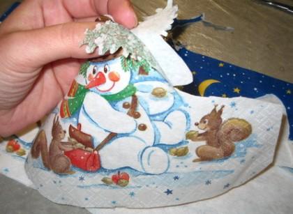 Декупаж стеклянной (пластиковой) тарелки на Новый год или просто новогодний декупаж