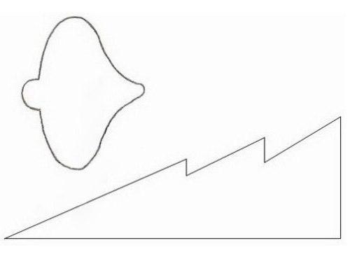 Форма ёлочки для открытки