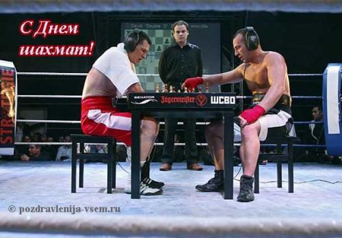Шуточная открытка с Днем шахмат